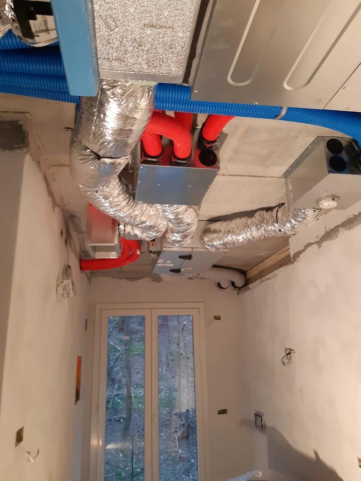 Impianto di VMC e condizionamento in casa classe A4