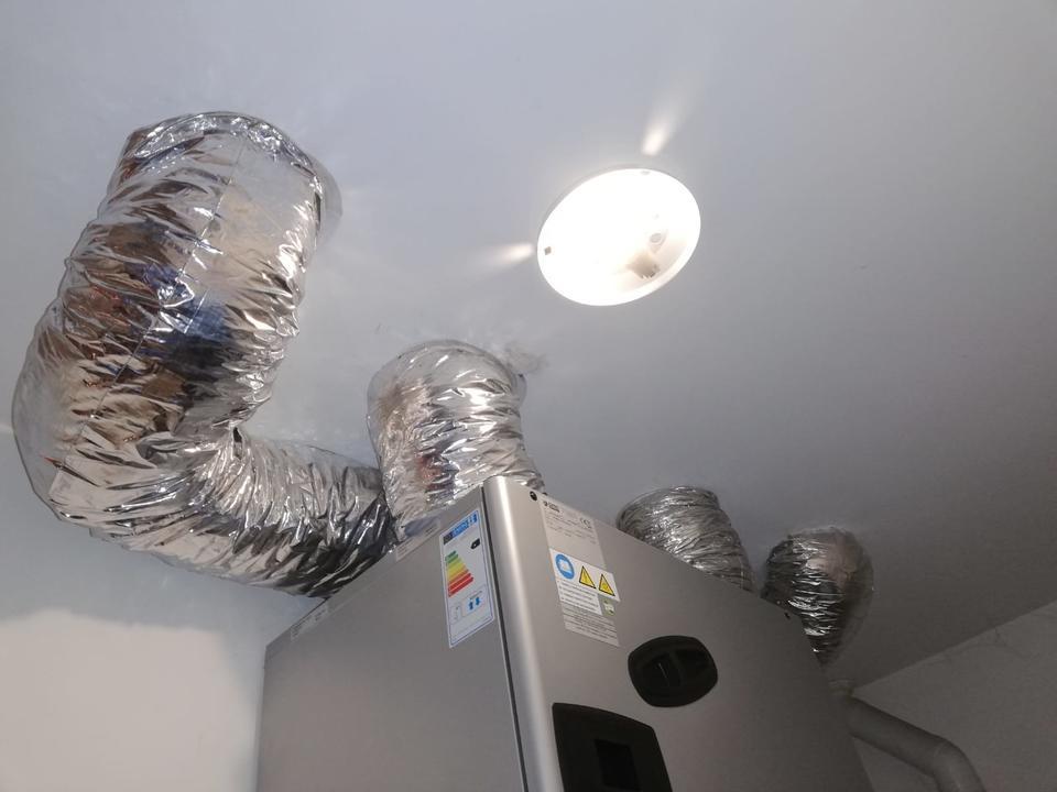 Impianto di VMC con sanificazione dell'aria